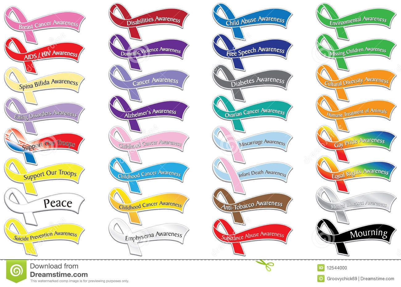 Cause Awareness Ribbons Stock Photo - Image: 12544000