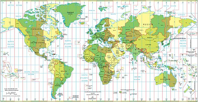 Nws Jetstream Clouds Time Zone Map World Time Zones Standard Time Zones