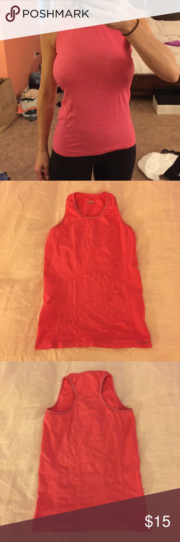 Moving Comfort Workout Top 🤸🏼♀️ Excellent condition, worn once or twice! Supportive, moisture wicking material with racerback. Bold pink color. Thanks for looking! Moving Comfort Tops Tank Tops