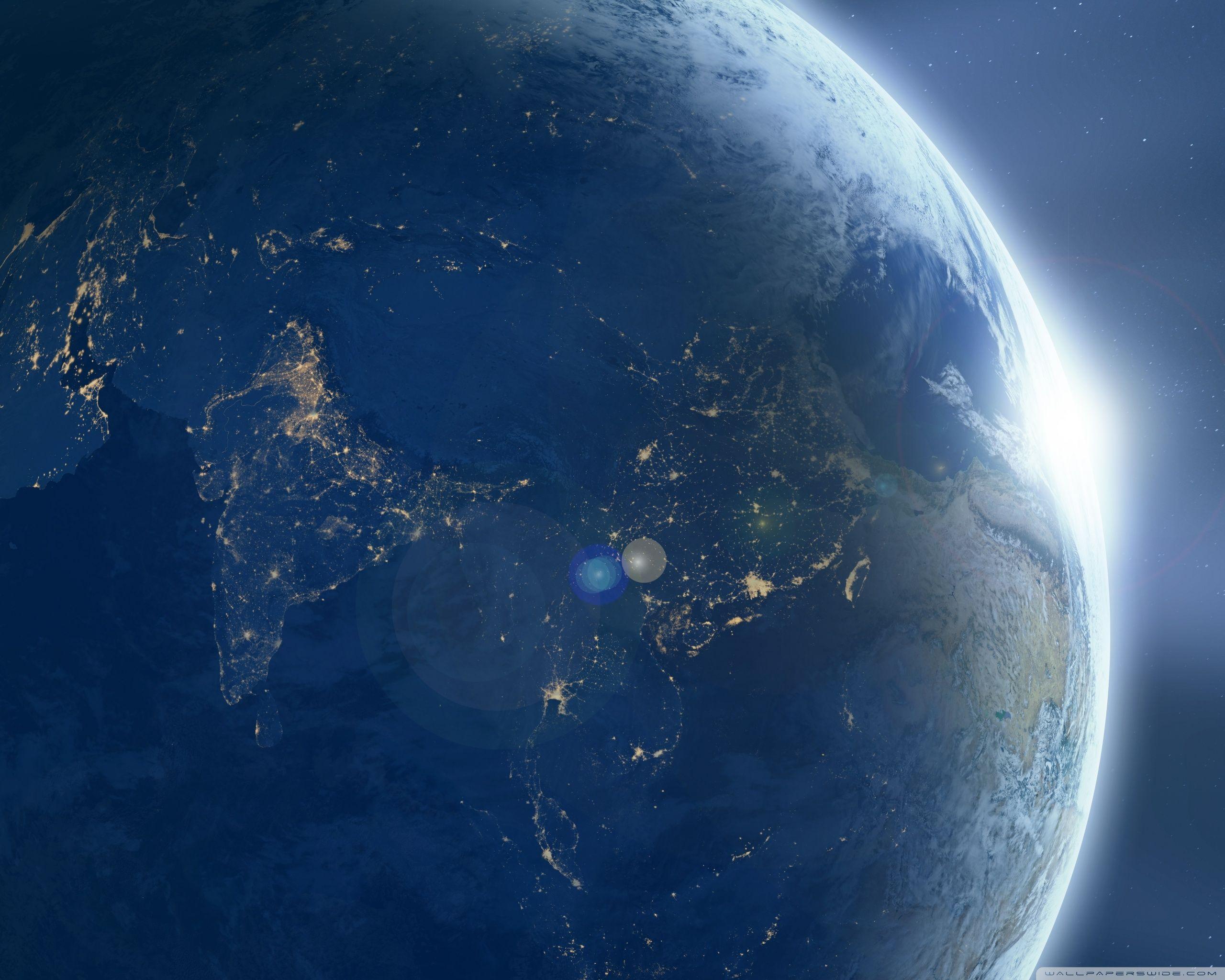 Moon Orbiting Earth HD desktop wallpaper Widescreen Mobile