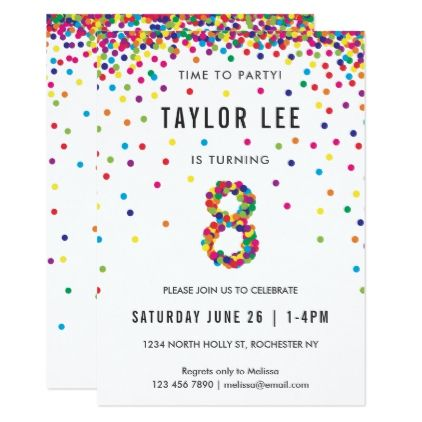 rainbow 8 year old birthday party 8th