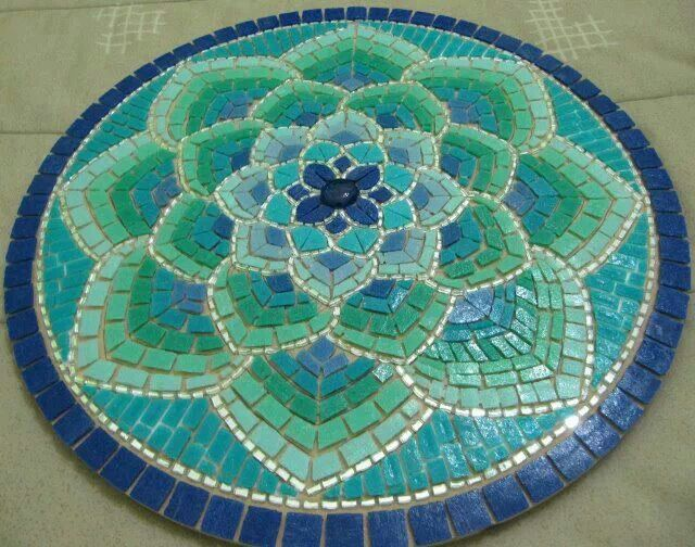 Martin alejo mangeaud table top stepping stone in a for Mosaic coffee table designs