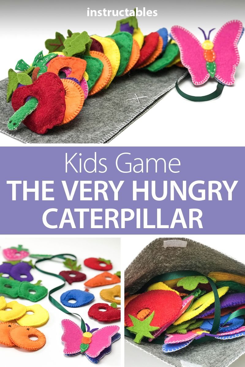 Kids Game: the Very Hungry Caterpillar #felttoys