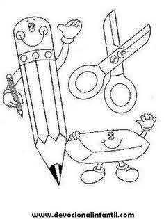 Portada Escolar De Back To School Preschool Activities Toddler Classroom Crafts Cross Stitch For Kids