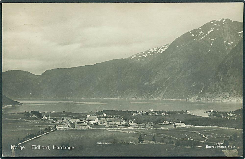 Hordaland fylke Eidfjord, Hardanger i Norge. Mittet & Co.