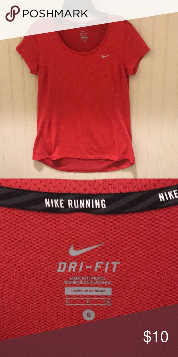 official photos 197e5 faf0f Nike Dri-Fit Top Red Nike Dri-Fit Top Great Condition Nike Tops Tees -  Short Sleeve