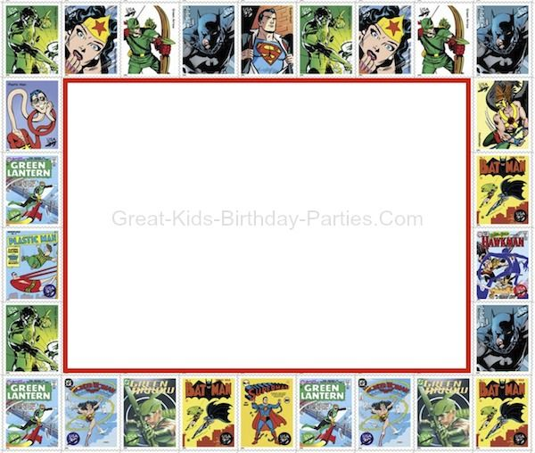 Superhero Printables Frame httpwwwgreat kids birthday partiescom