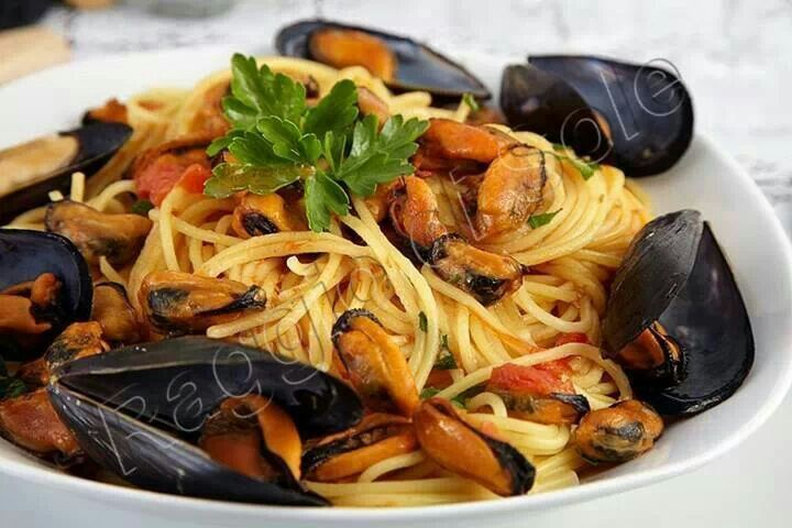 Spaghetti ai muscoli (cozze)