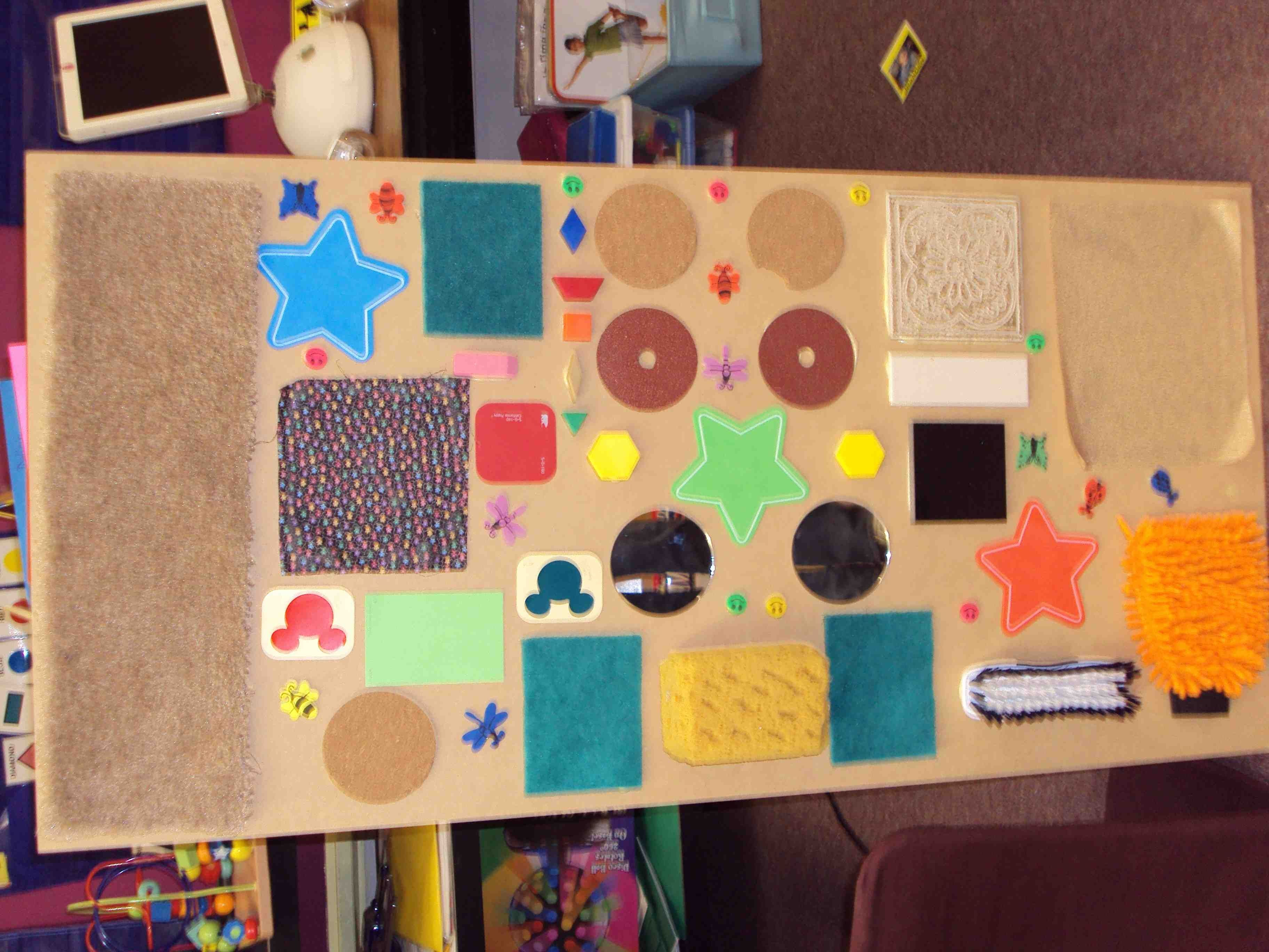 I Made This Sensory Board Last Summer And The Kids