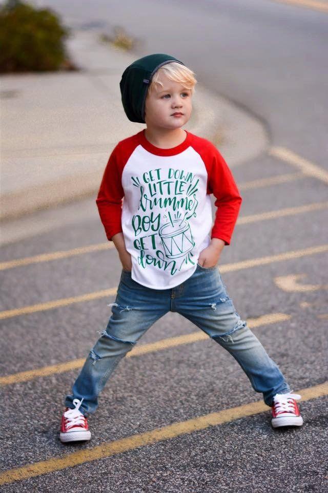 little drummer boy shirt, boy christmas raglan, baby boy, toddler