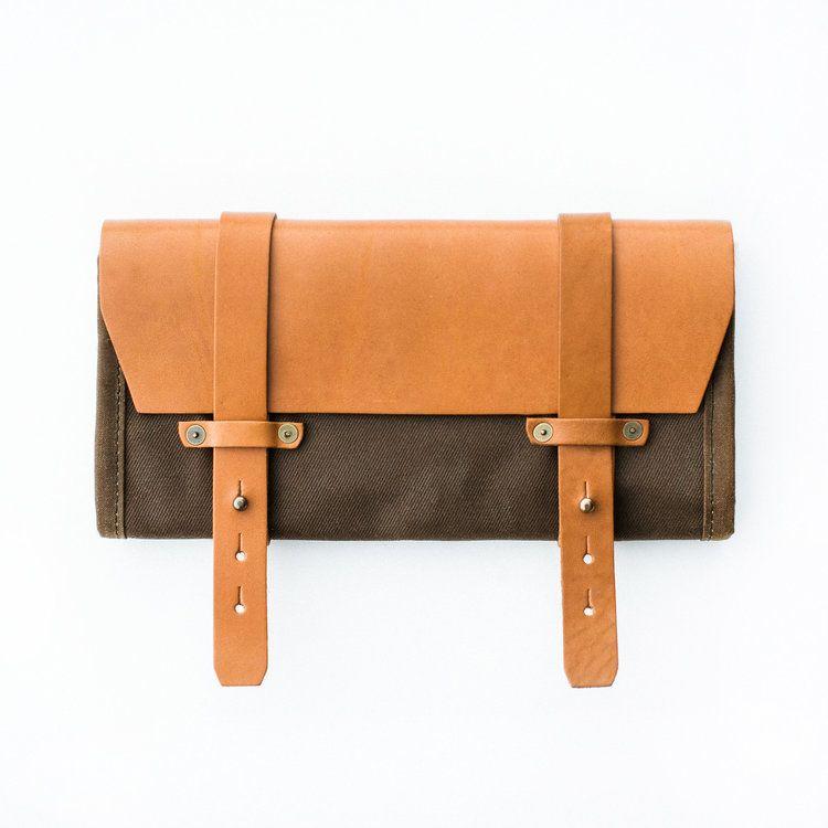 Photo of Tool Roll Tan Twill / Tan Leather  — Pack Animal