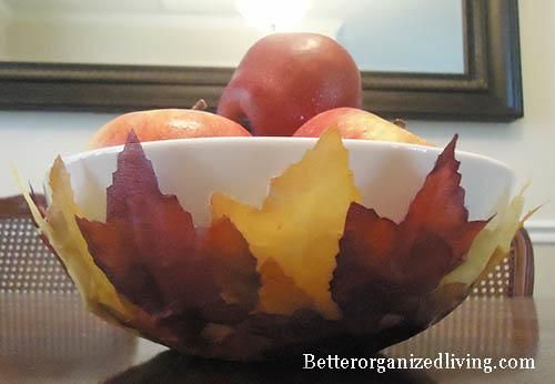 Decorative Leaf Bowl 25 Adorable Diy Autumn Inspired Decoration Ideas With Leaves