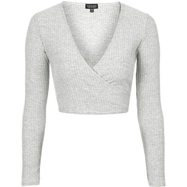398987083b6 TOPSHOP Long Sleeve Ballet Wrap Top ( 20) ❤ liked on Polyvore featuring tops