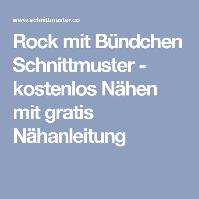 Rock mit Bündchen Schnittmuster - kostenlos Nähen mit gratis ...