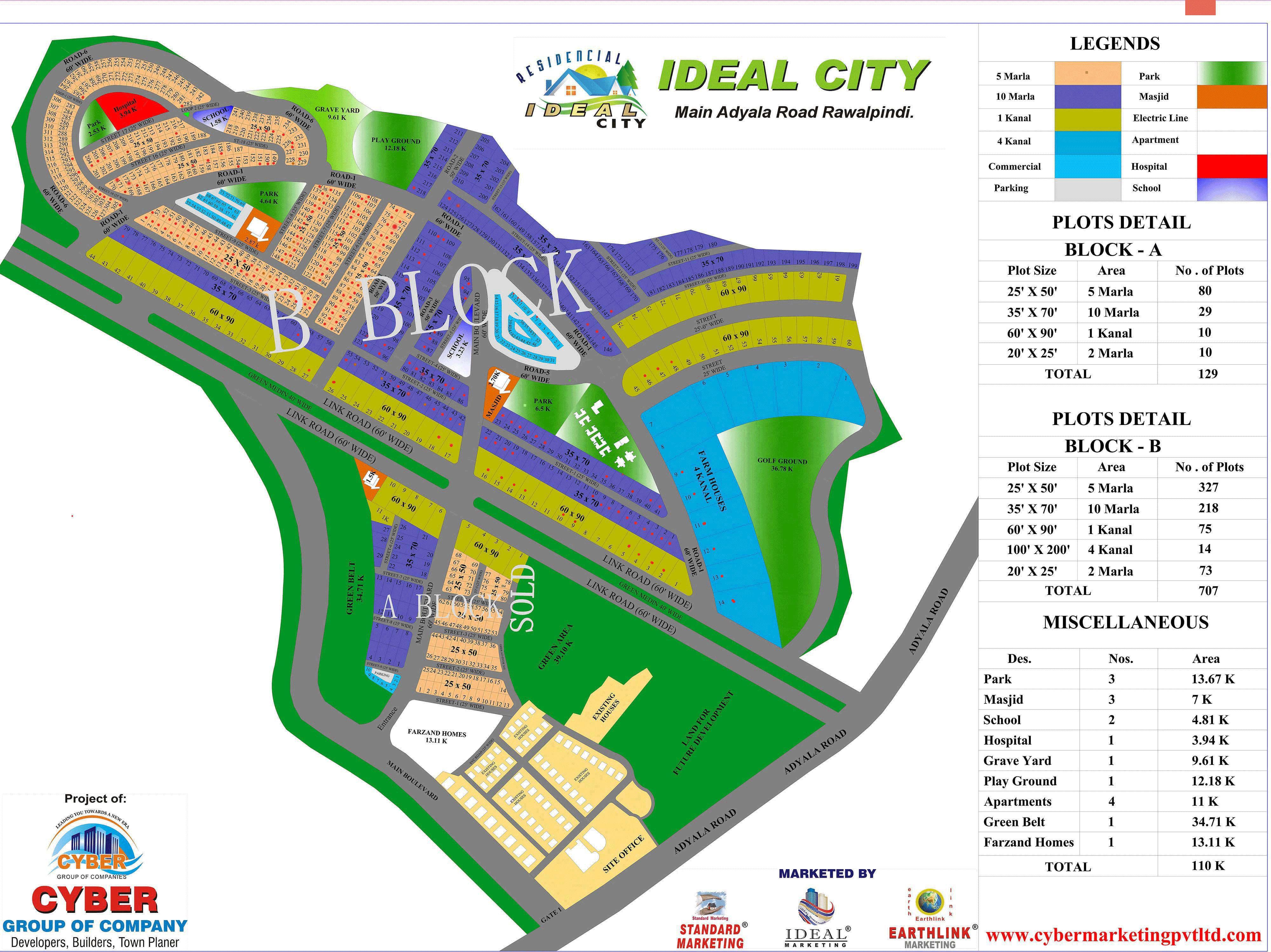 Ideal City Map   ideal city rawalpindi   City, Block b, Map