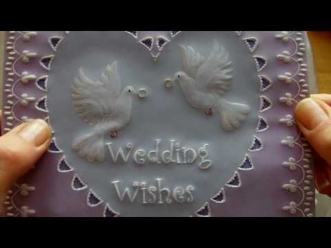 several lovely parchment paper embossing and inking designs card