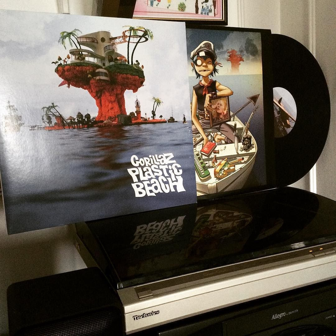 Danny Is Totally Not On Fire On Instagram One Of My Favourite Records Plastic Beach By Gorillaz On 180 G Viny Gorillaz Plastic Beach Gorillaz Plastic Beach