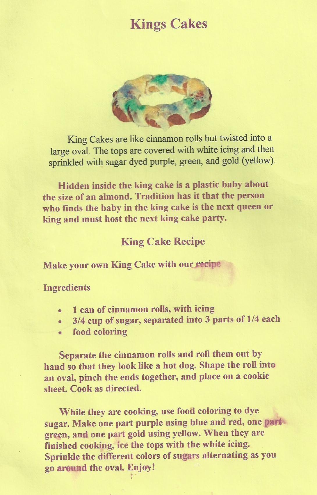 Easy king cake mardi gras cake king cake holiday cakes