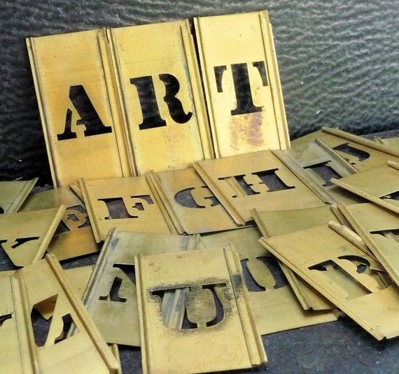 brass stencils brass stencils metal letters