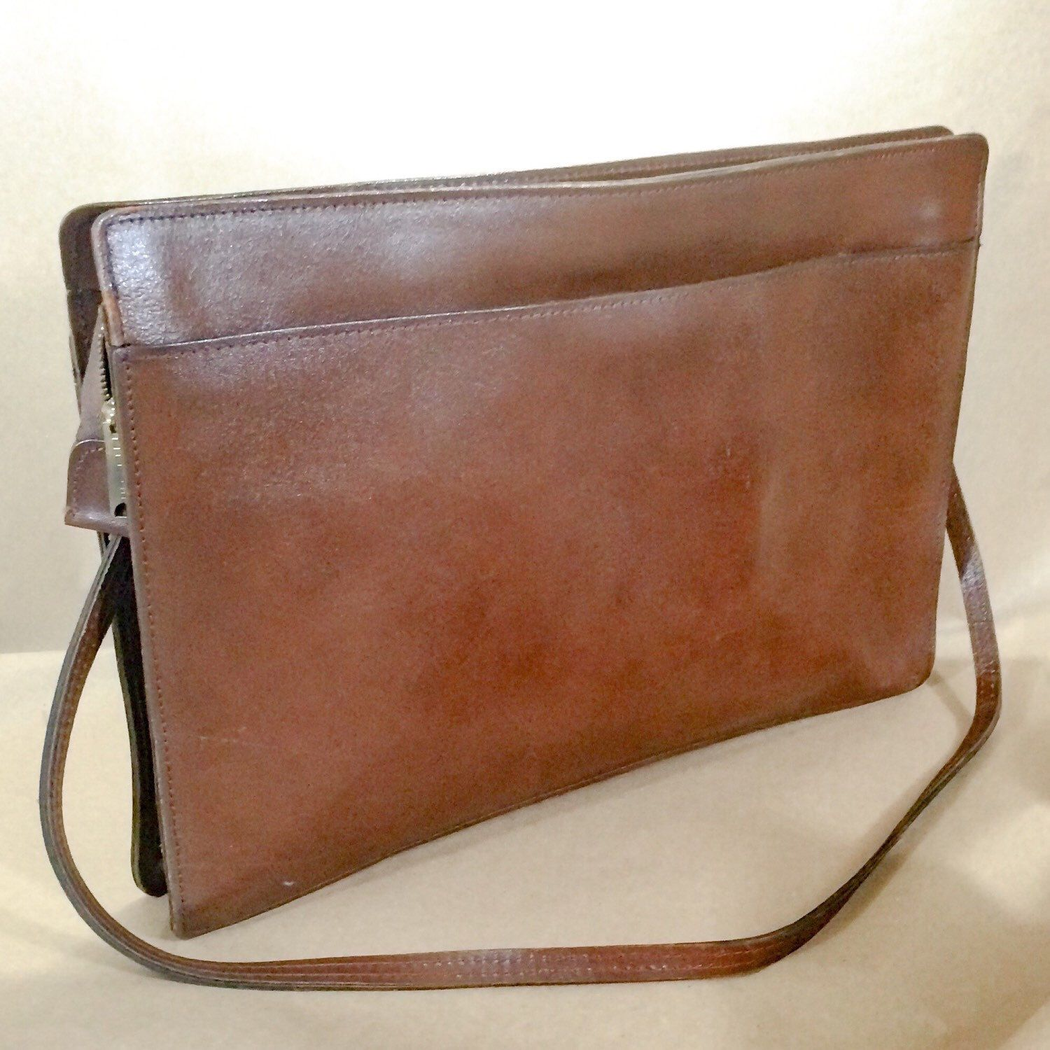 A personal favorite from my Etsy shop https://www.etsy.com/listing/239460358/vintage-17-brown-bridle-leather