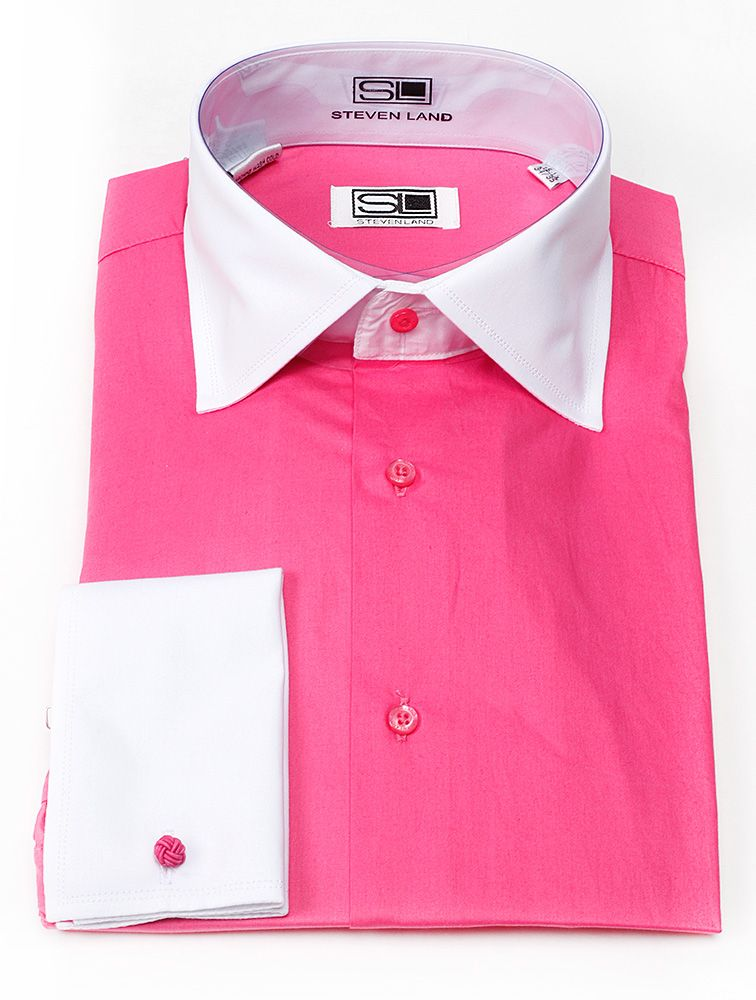 mens pink dress shirt - this would be a great little girl dress ...