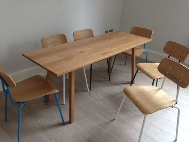Heal S Oak Dining Table 6 Habitat Dining Chairs London