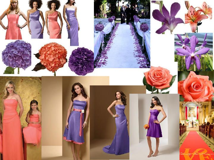 Purple And Coral Wedding Colors Coral And Purple Pantone