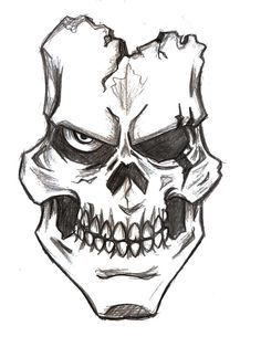 Assassin Skull Drawings Bing Images Skulls Easy Skull
