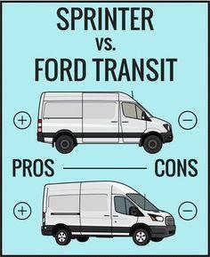 Ford Transit Vs Sprinter Ford Transit Camper Ford Transit Van Life