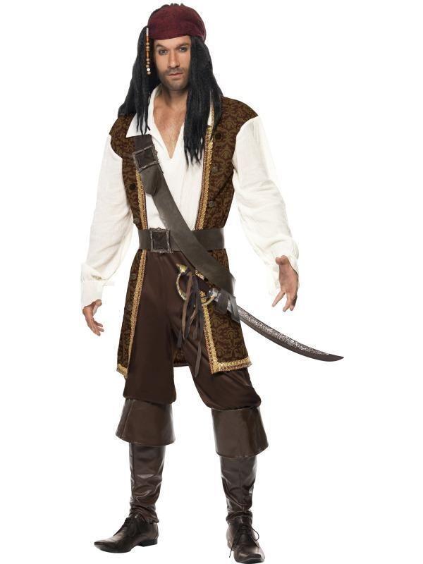 Brand New High Seas Adventurer Captain Pirate Buccaneer Adult Costume