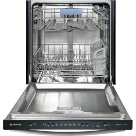 Bosch 100 Series 24 Tall Tub Built In Dishwasher With Stainless Steel Tub Stainless Steel Shx3ar75uc Best Buy Built In Dishwasher Steel Tub Large Appliances
