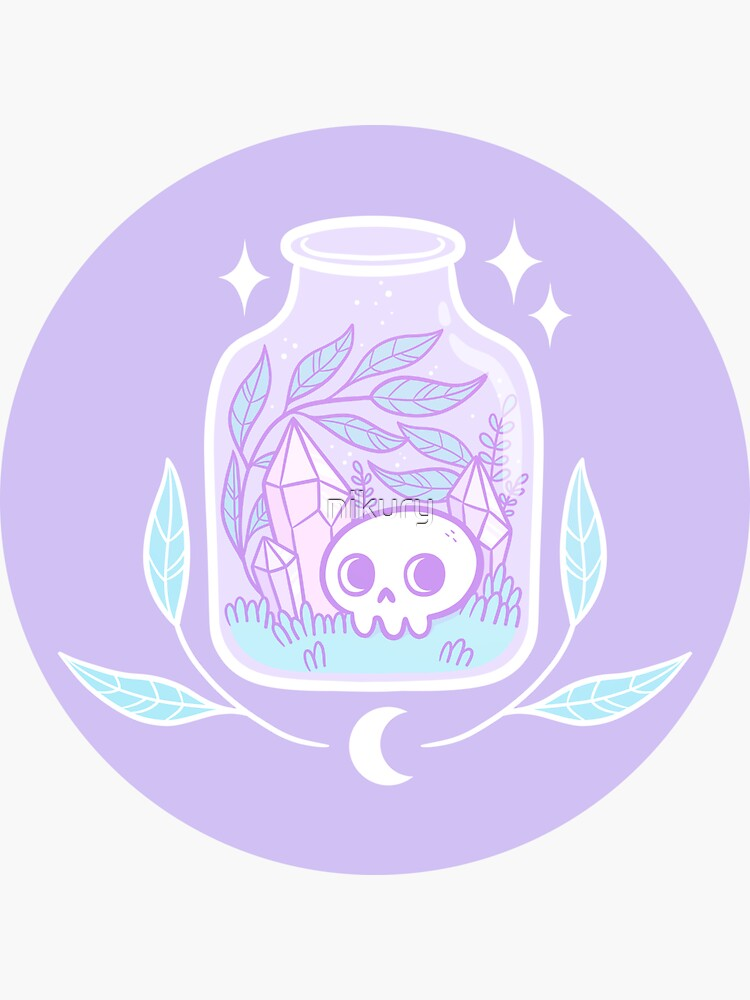 """Download for free 50+ purple aesthetic wallpapers. """"Pastel Terrarium"""" Sticker by nikury 