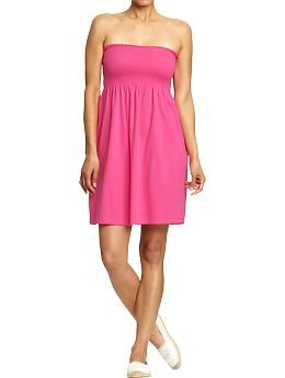 Women's Smocked Tube Dresses in Neon Pink Drink | Old Navy