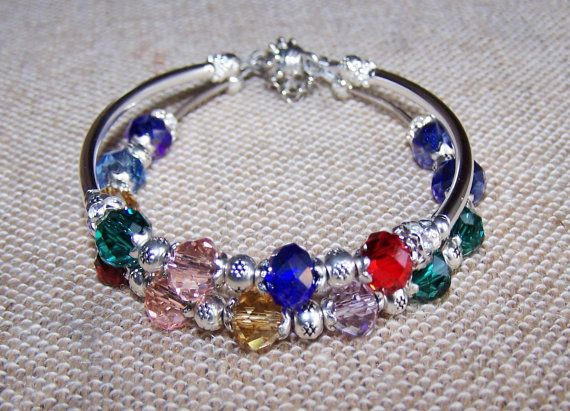 ✰★ #Personalized Grandmother's #silver Birthstone Bracelet with Custom... Order Now! http://etsy.me/2hgZ2BN