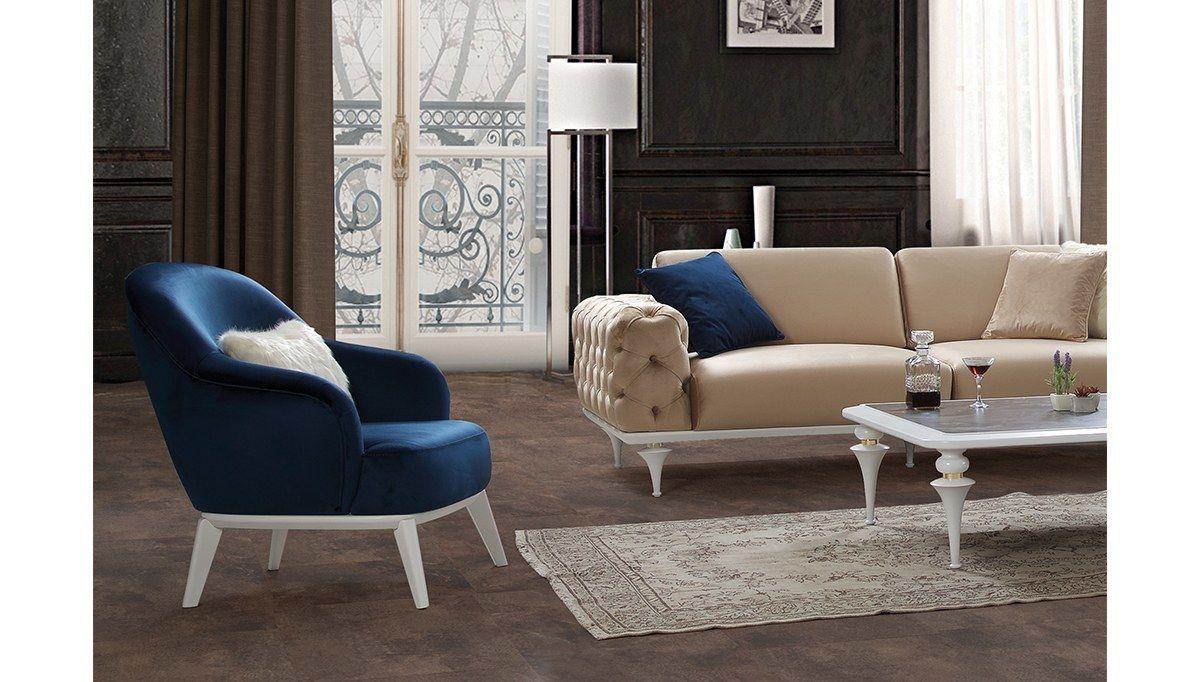 Avrasya Krem Lacivert Koltuk Takimi Furniture Home Decor Home