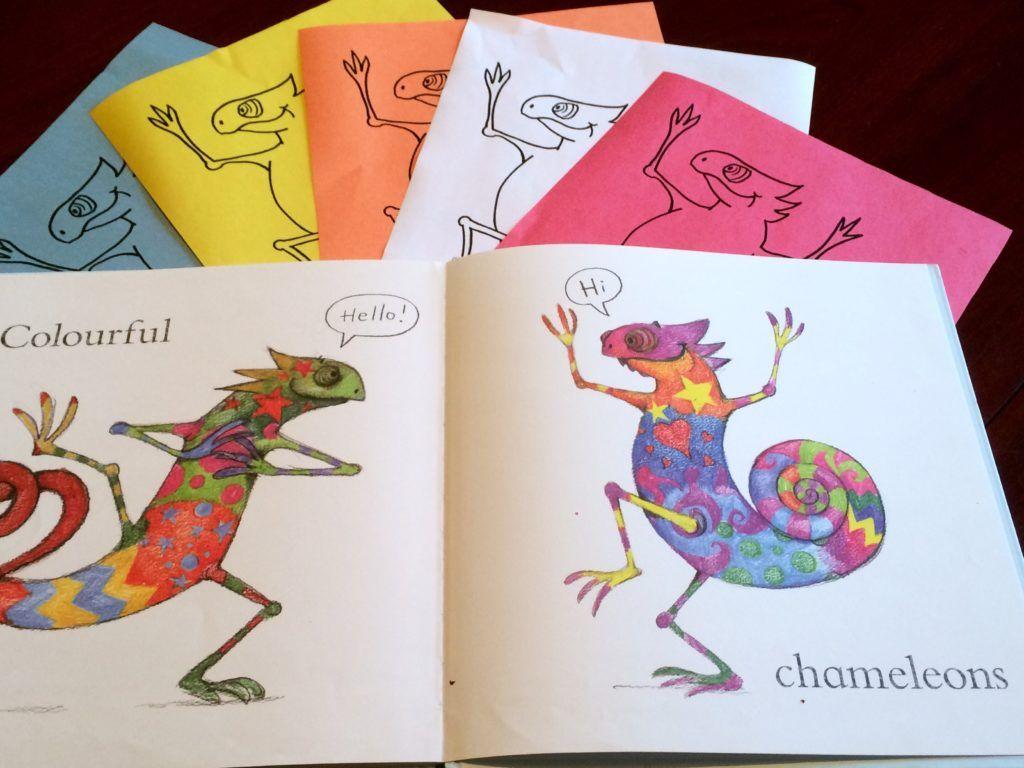 Blue Chameleon Activities Chameleon Chameleon Craft Book Crafts