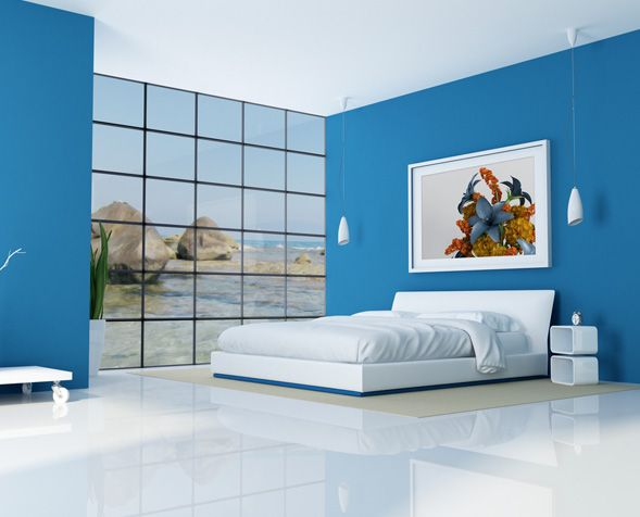 bedroom painting ideas blue purple