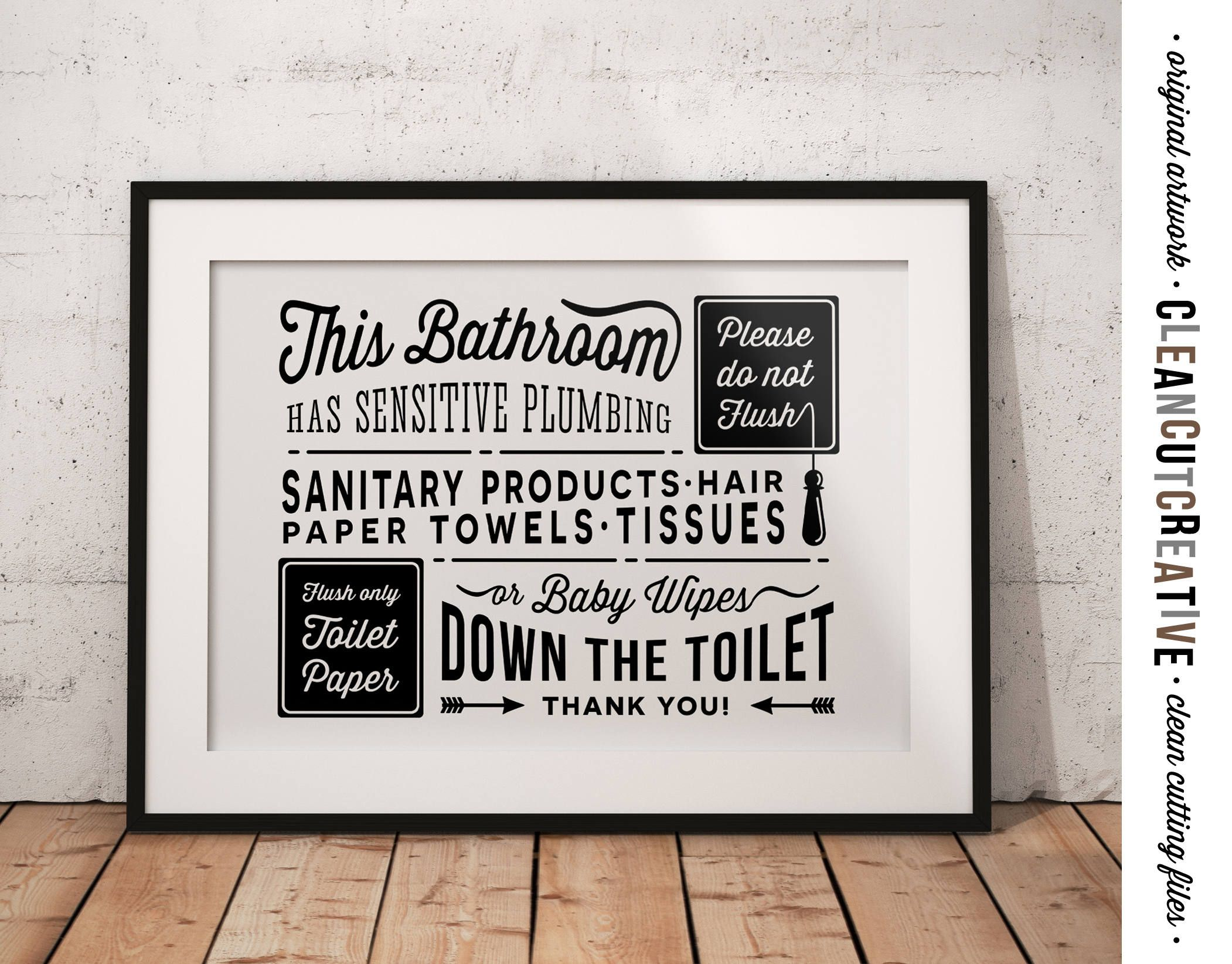 Septic signs for bathroom