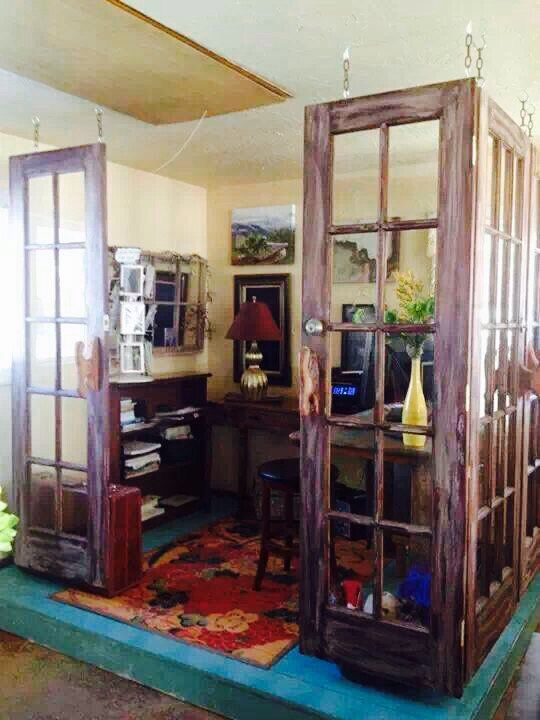 Use old doors to create a room!