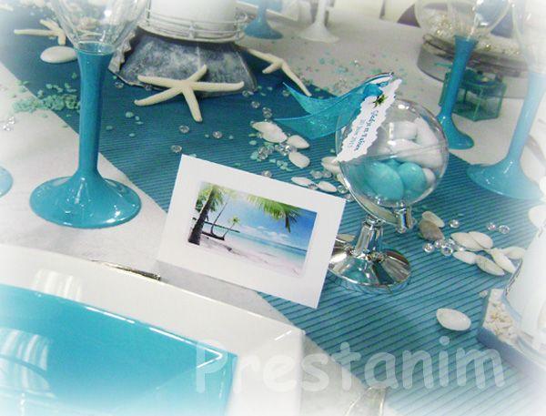 D coration th me mer assiettes vague jetable et pliage de serviette marine mariage d cor - Pliage serviette theme mer ...