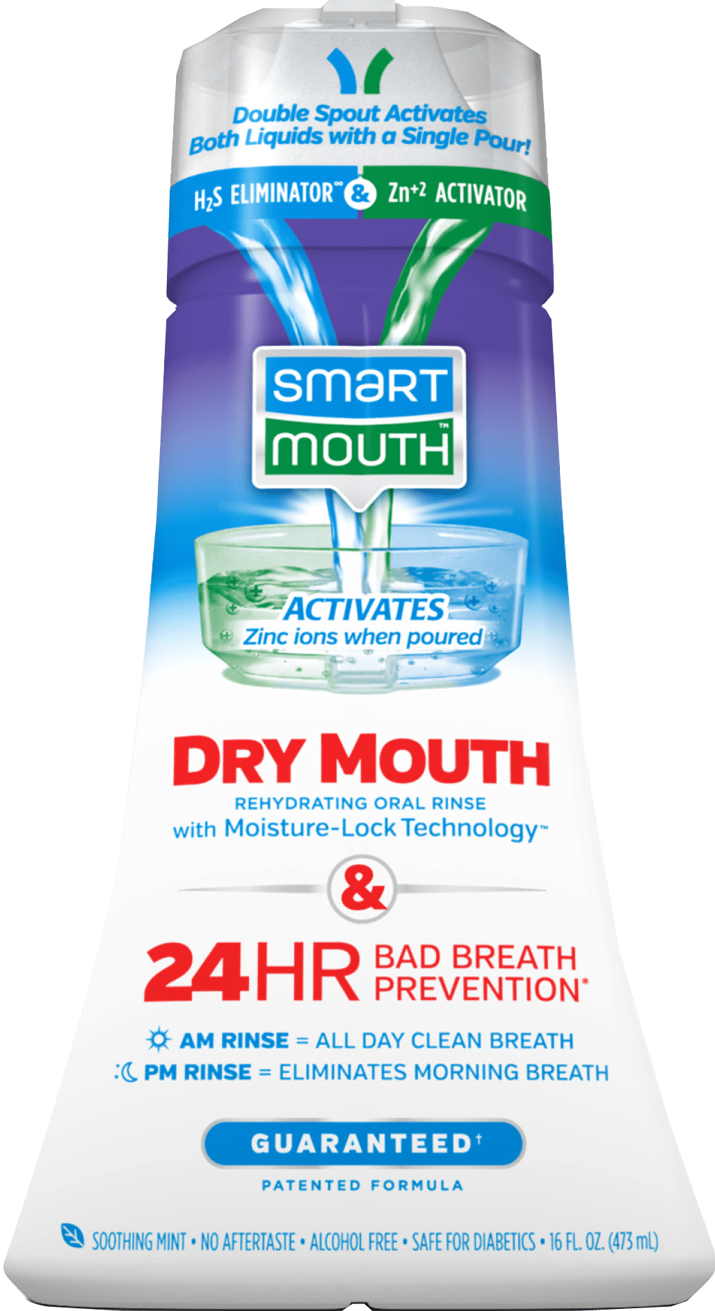 Dry Mouth Mouthwash Activated Oral Rinse Relieves Dry