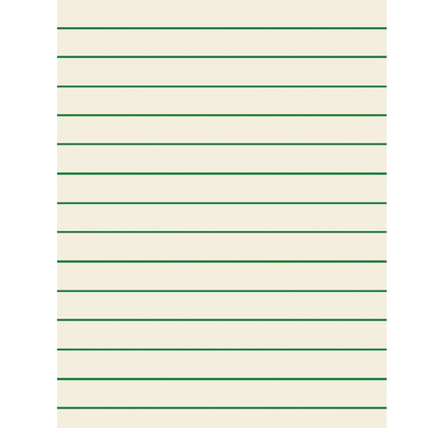 Green Bold Lined Paper for Students 85 x 11 Inches, 075-In - sample lined paper