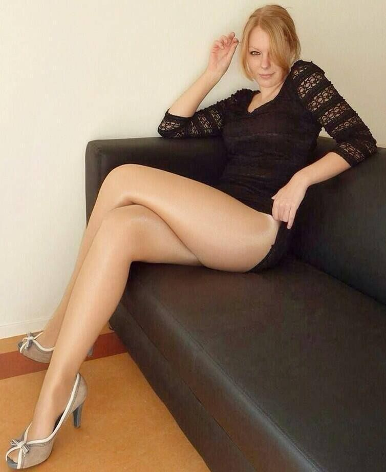 Blondes and pantyhose and legs and nude