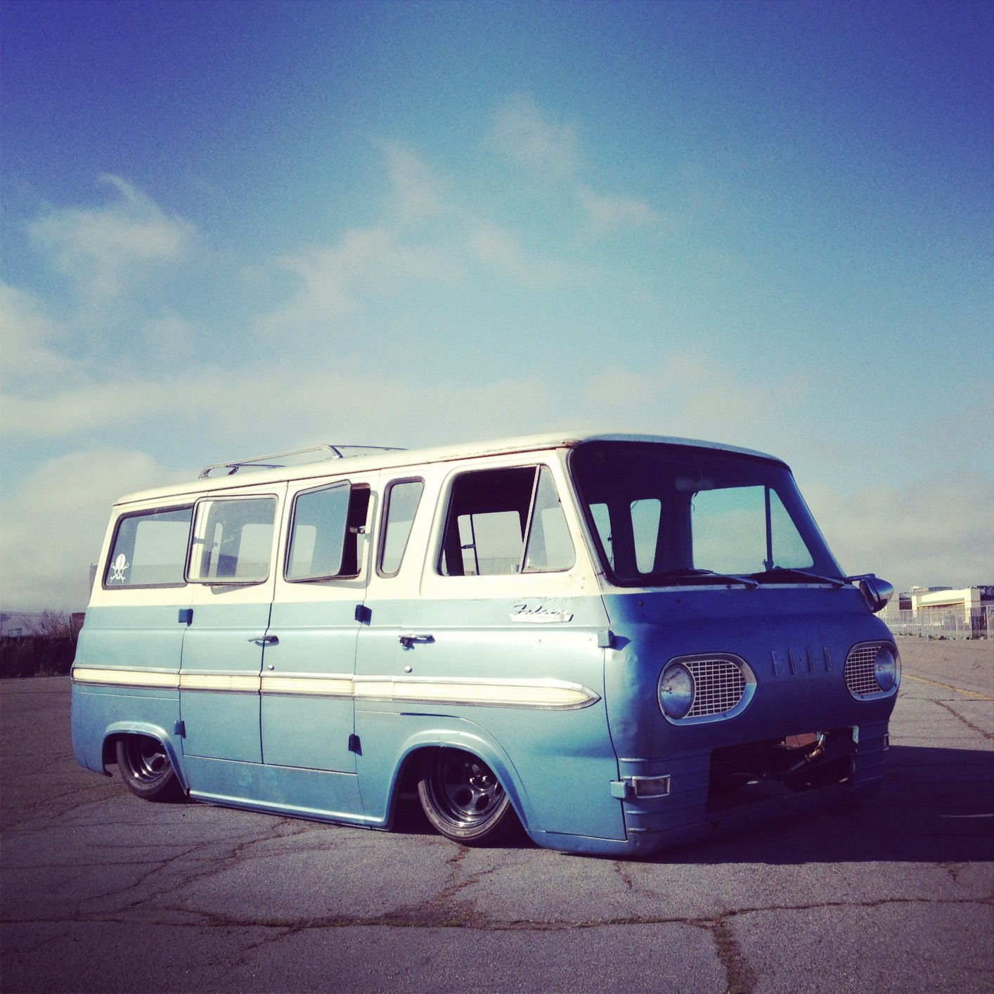 Many a hot summer day was spent riding in the back of my dad s old blue ford econoline van no seat belts of course