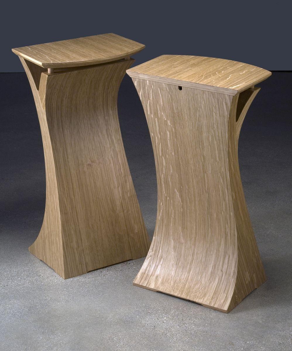 Custom Made Quarter Sawn White Oak Speaker Stands