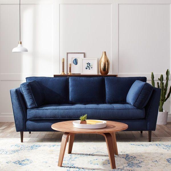 James Mid Century Sonoma Navy Blue Sofa