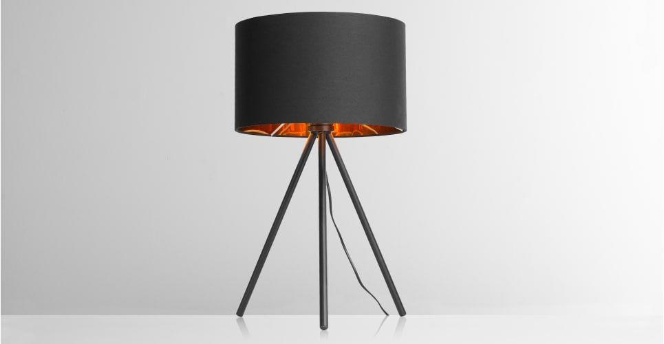 TRIS Tafellamp (zwart & koper) € 55