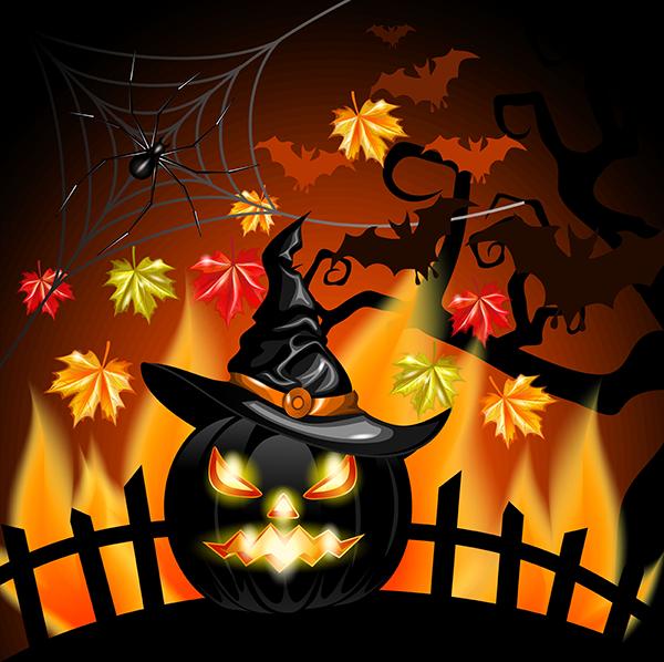 Calabaza de halloween 2 0 vector halloween y terror - Calabazas de halloween de miedo ...