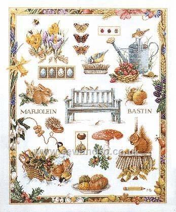 *Garden Wildlife Sampler Cross Stitch Kit!