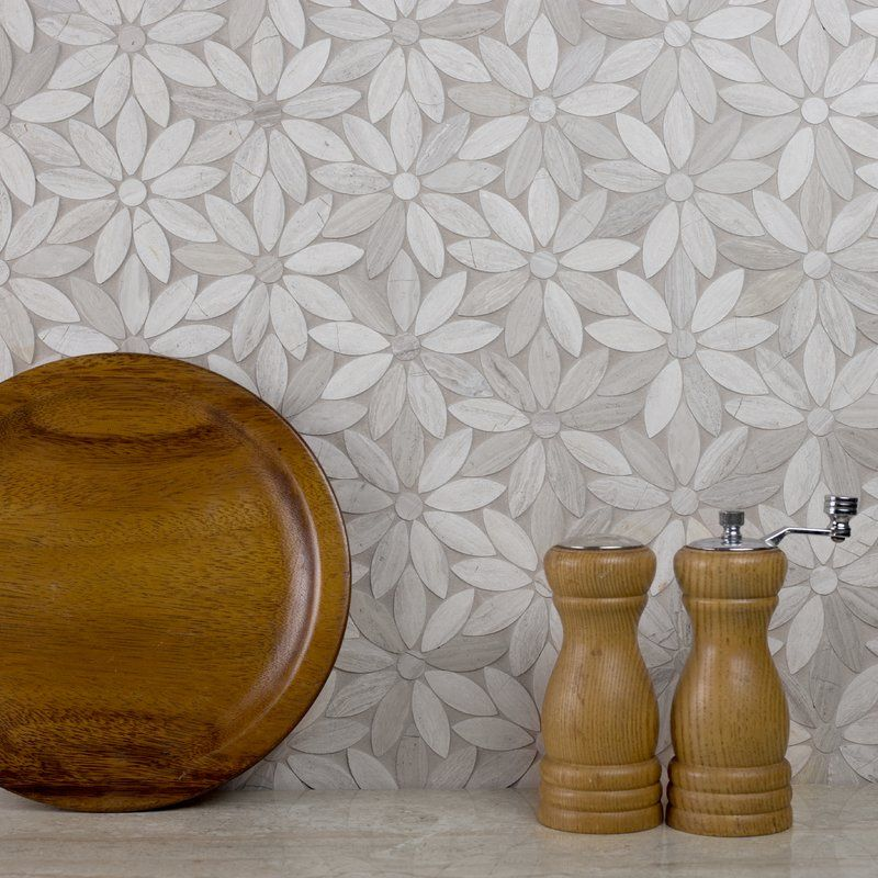Abolos 12 X 12 Marble Mosaic Wall Floor Tile Marble Mosaic Waterjet Mosaic Tile Mosaic Wall Tiles
